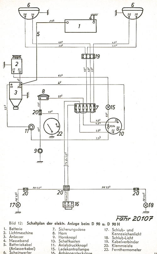 4596 Blinker Undwarnblinker on john deere alternator wiring diagram
